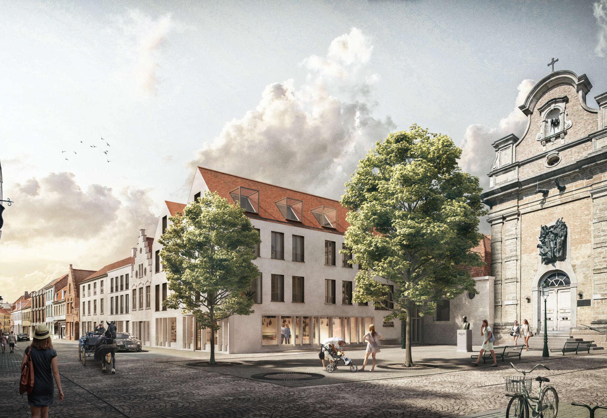 Gewezen klooster Weylerkazerne in Brugge herleeft tot nieuwe woonzone
